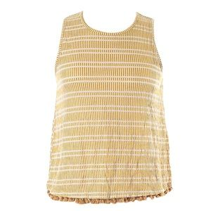 W5 yellow and white tassel detail tank top